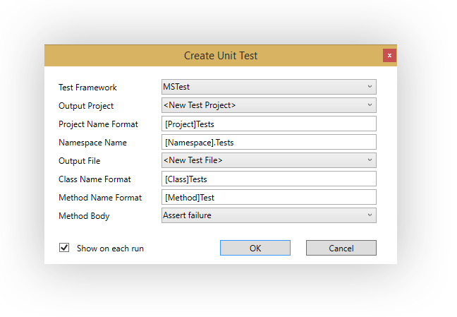 generate unit test