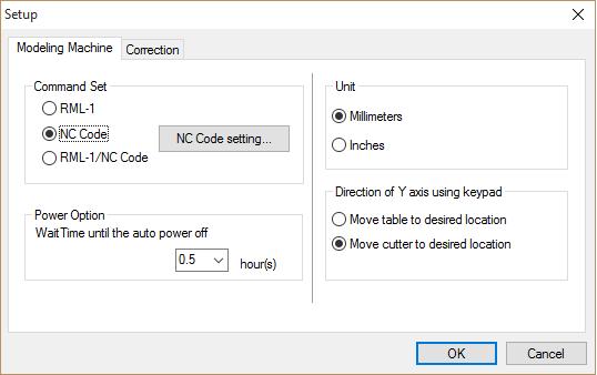 iModela controller setup