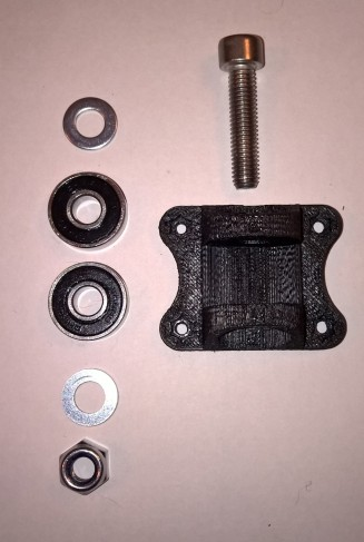 Y-axis bearing mount - exploded view with bearing