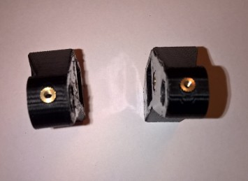 Y-axis left and right mounts - top view with nuts