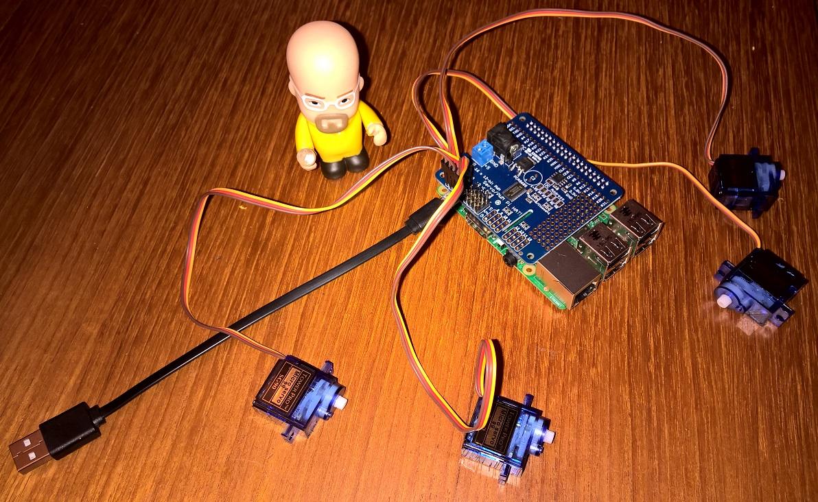 Programming the Adafruit PWM/Servo Hat for Raspberry Pi in