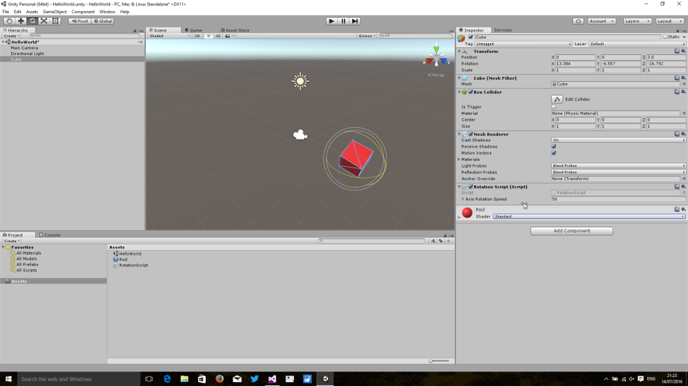 Coding for the HoloLens with Unity 5 – Part #2: Creating a