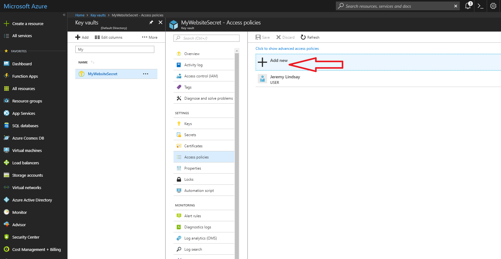 Using the Azure Key Vault to keep secrets out of your web