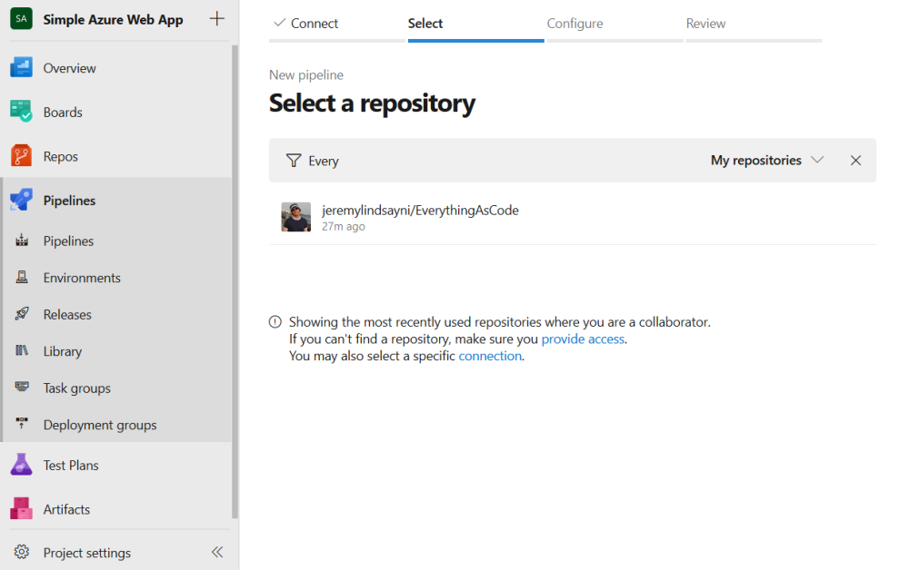select a repository